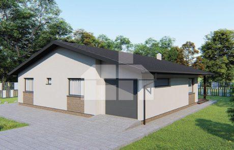 Štvorspálňový bungalov s garážou - č.26