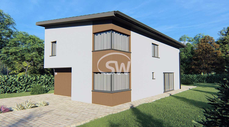 Montovaný keramický dom s pultovou strechou