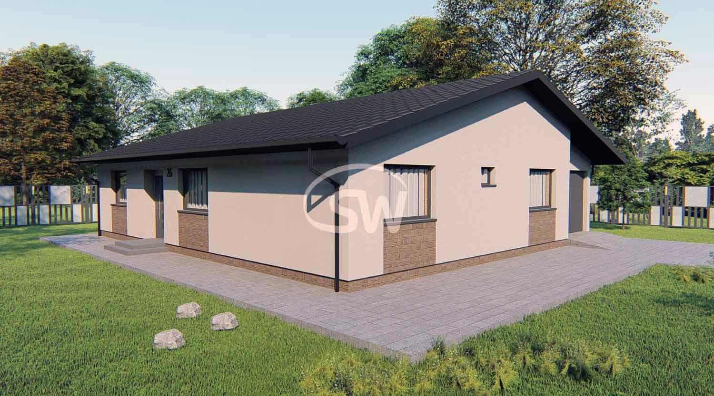 Štvor-spálňový bungalov s garážou