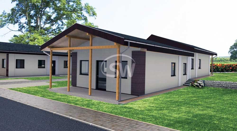 3 izbový bungalov pre malé pozemky