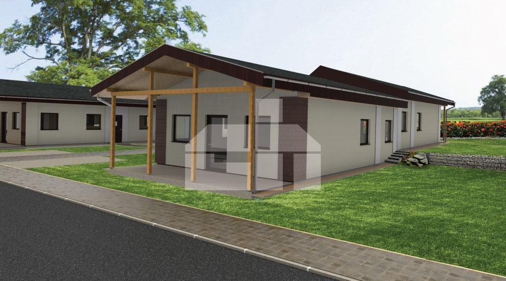 3-izbový bungalov pre menšie pozemky - č.13
