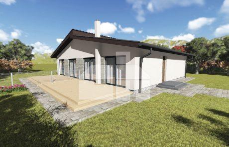Jednopodlažný dvojdom - bungalov - č.D11