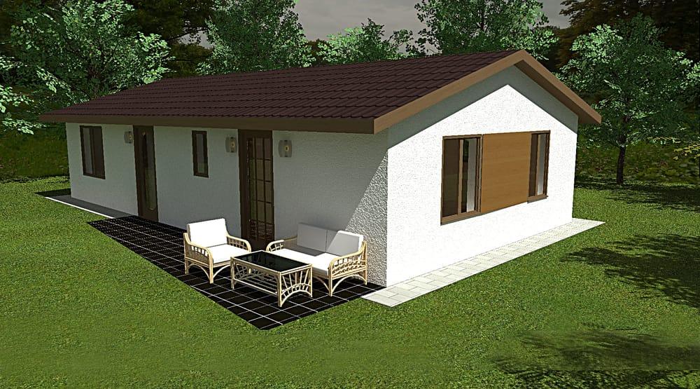 Dvojspálňový bungalov dostupný skladom