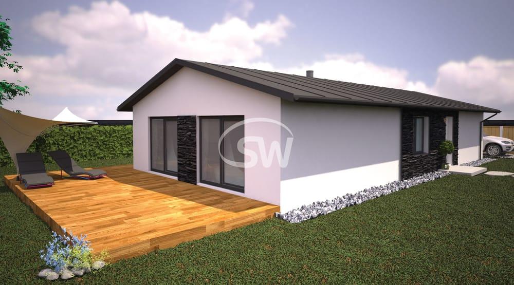 Projekt trojspálňového domu na úzky pozemok - č.18