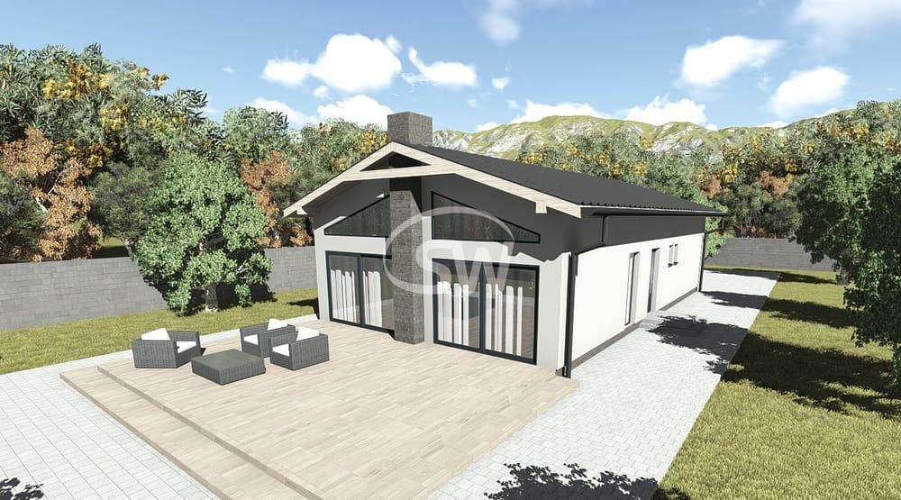Trojizbový rodinný dom s galériou- č.33