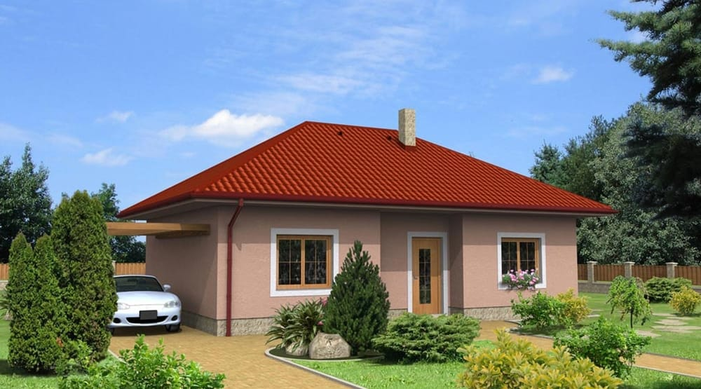 Veľký dvojspálňový bungalov s valbovou strechou – č.11