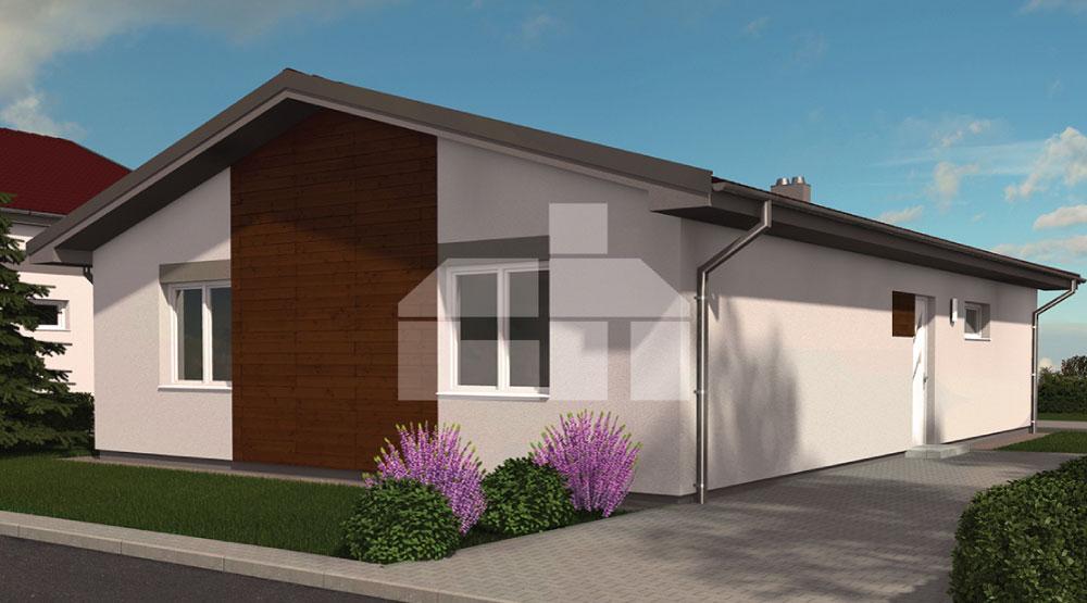 Malý bungalov pre úzky pozemok, záhradný dom - č.14