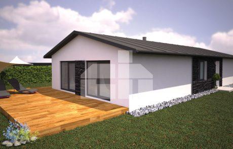 Projekt trojspálňového domu na úzky pozemok