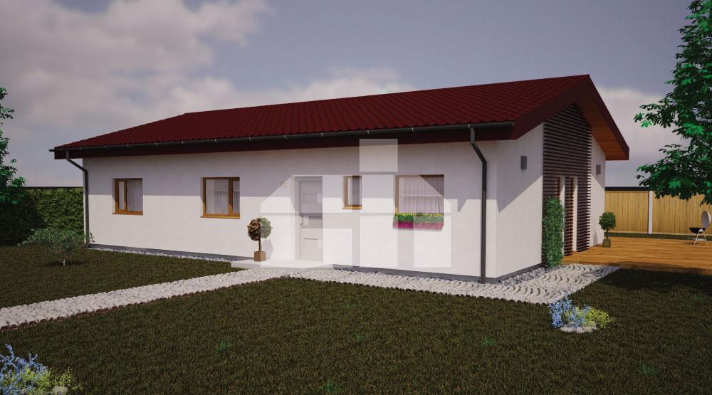 5izbový bungalov s pôdorysom v tvare obdĺžnika - č.34