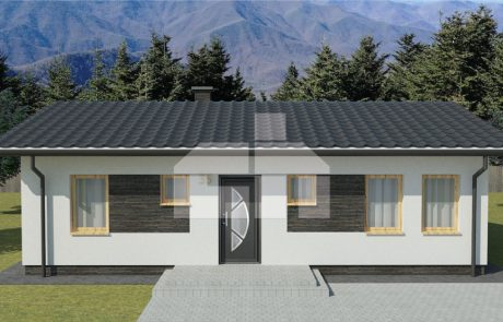 Štvorizbový montovaný rodinný dom - č.35
