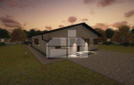 Trojspálňový rodinný dom s veľkou komorou - č.37