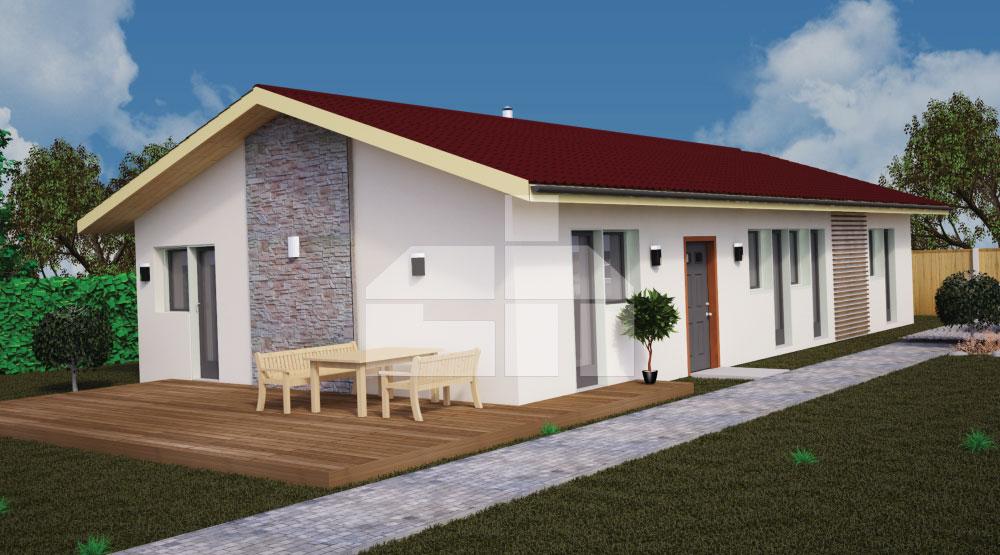 Trojspálňový bungalov s oddelenou spálňou od izieb - č.41
