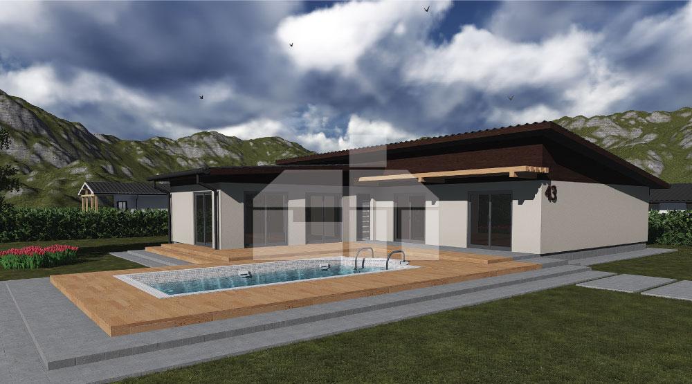 6-izbový bungalov veľkorysých rozmerov - č.43