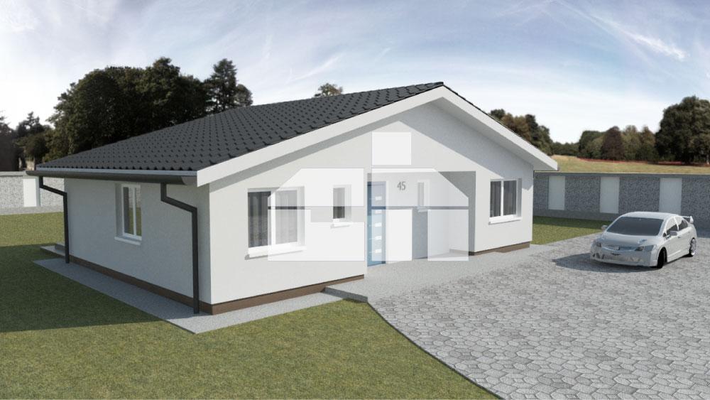Úsporný 4-izbový bungalov - č.45
