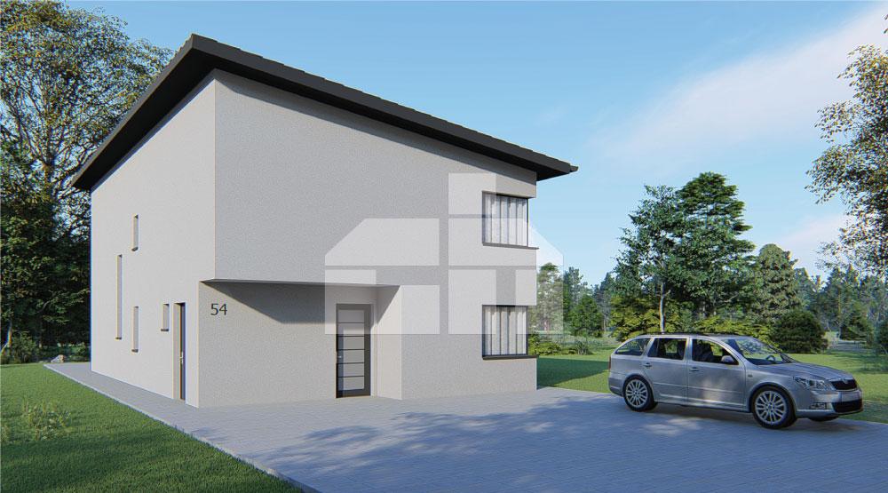 Dvojpodlažný dom s pultovou strechou - č.54