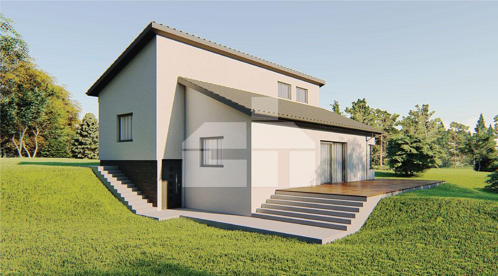 Rodinný dom vhodný na svahovitý pozemok - č.60