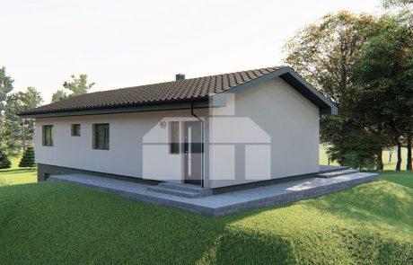 Trojspálňový rodinný dom s podpivničením - č.49
