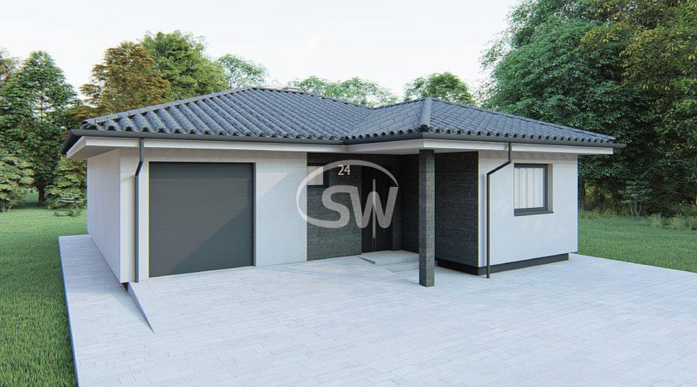 Trojizbový rodinný dom s garážou – č.24