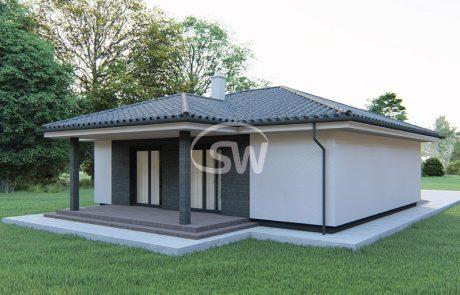 Trojizbový rodinný dom s garážou – č.24c