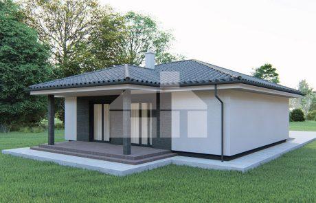 Trojizbový rodinný dom s garážou - č.24
