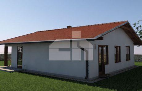 Trojspálňový rodinný dom so štvorcovým pôdorysom - č.32