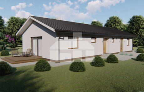 Dvojgeneračný rodinný dom so samostatnými vchodmi, bungalov dom č.70
