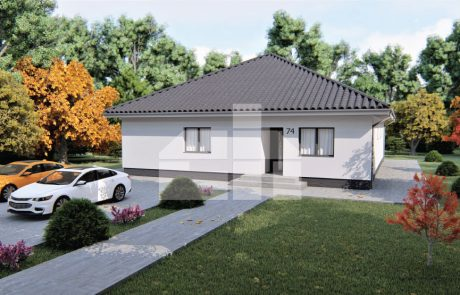 Veľký 5-izbový bungalov s valbovou strechou - č.74