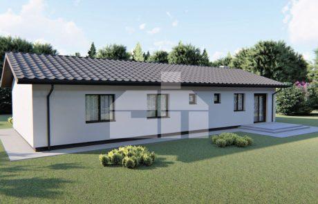 Veľký 5 izbový úsporný bungalov - č.75