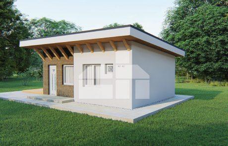 Modulový dom záhradny, dvojizbový